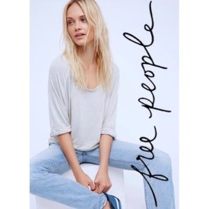 Free People Moonlight Burnout Tee Oversized M